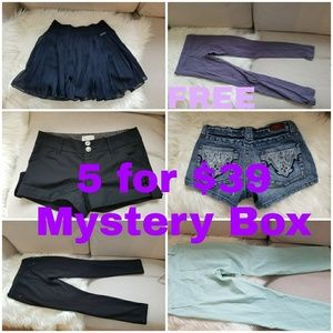 Mystery box 5 for $39 bottoms + 1 free leggings